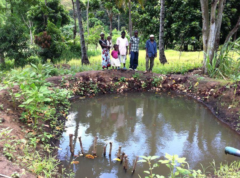 Der Fischteich der Bauerngruppe Tupendane